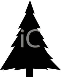 239x300 Christmas Tree Silhouette Clipart Image Of A Black And White