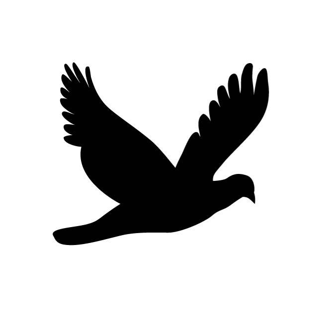 660x660 Flying Dove Silhouette