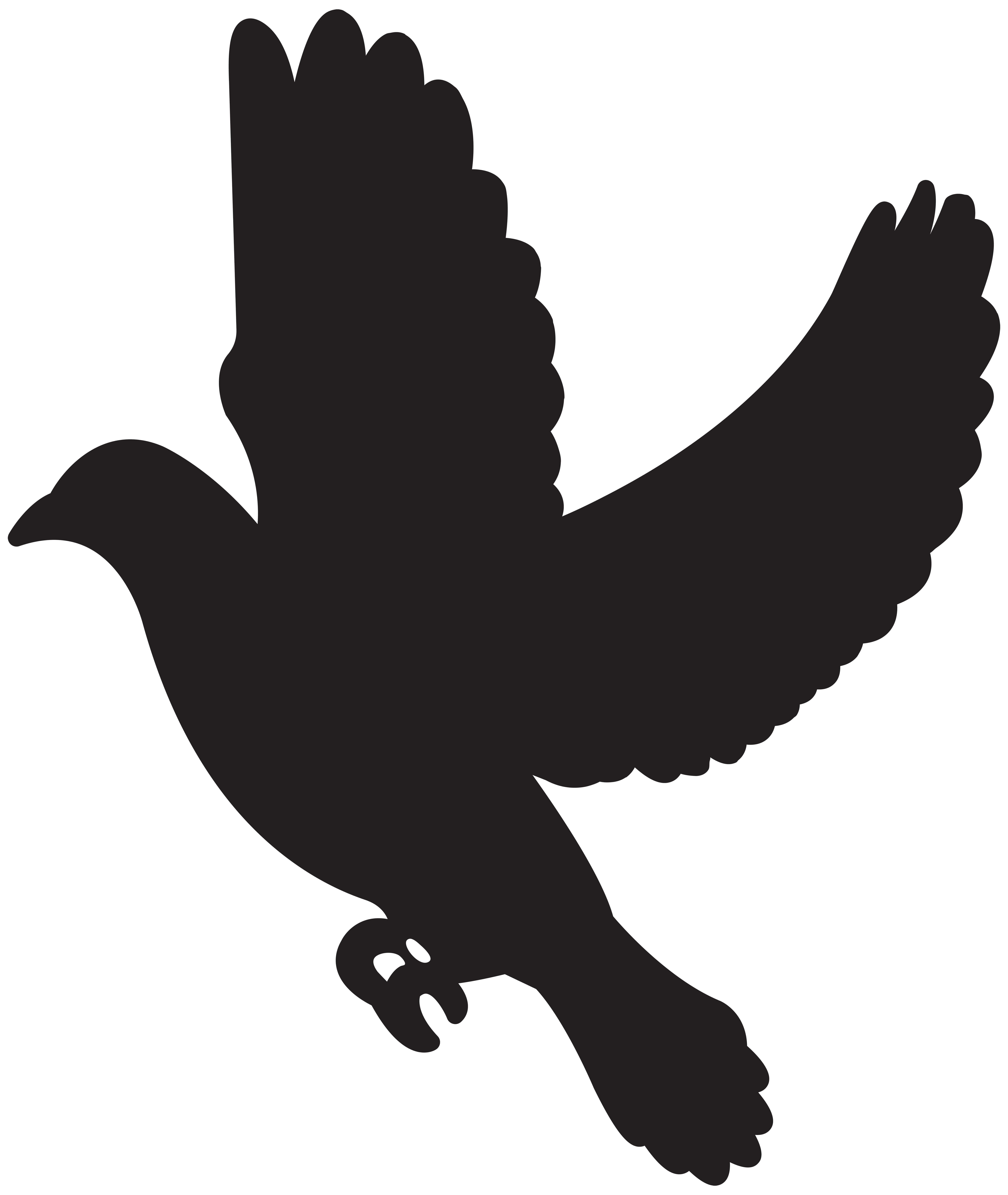 6746x8000 Flying Dove Silhouette Png Clip Artu200b Gallery Yopriceville