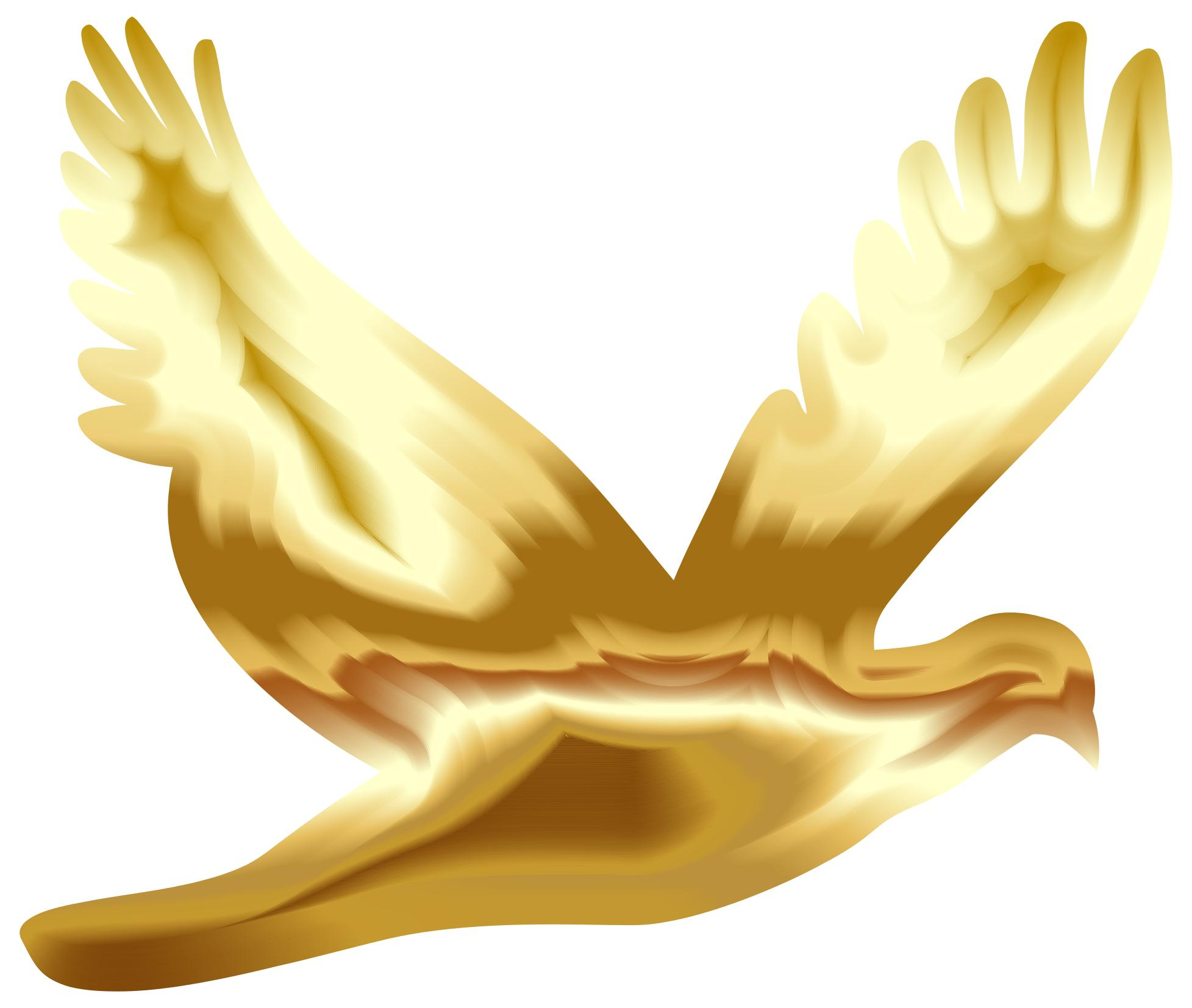 1955x1654 Gold Flying Dove Silhouette No Background Clipart