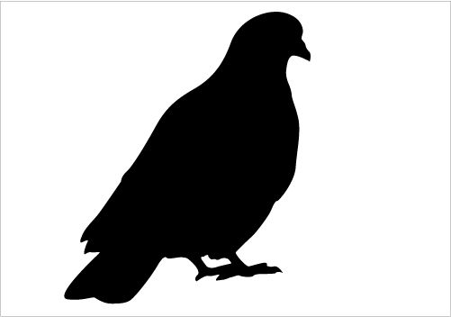 501x352 Beautiful Dove Silhouette Vector For Download Silhouette Graphics