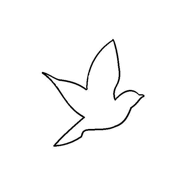 600x600 Bird Outline For Nursery . Flying Aerie Bird Outline By Elena