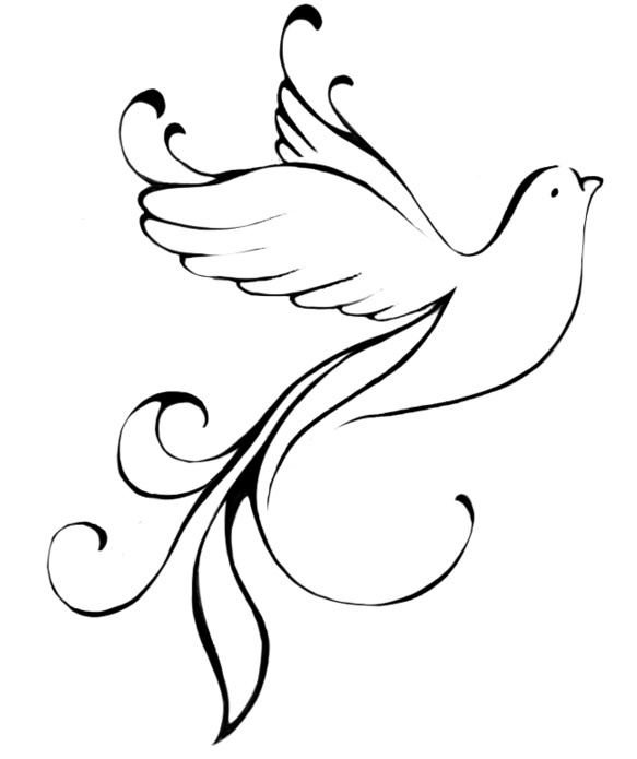 Dove Silhouette Tattoo