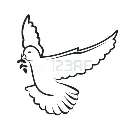 450x450 Collection Of Outline Flying Dove Tattoo Free Coloring Dove Bird