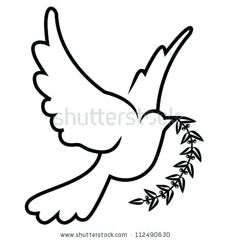 450x470 Dove Drawing Images At Free For Personal Use Dove Vector