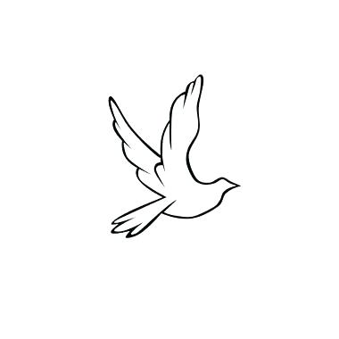 380x380 Dove Flying Outline Outline Flying Dove Tattoo Design Small Dove
