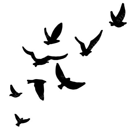 432x432 Dove Stencil Cool Stickers Wall Decals