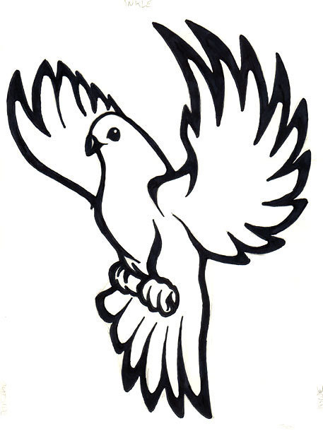 457x610 Dove Tattoo Meaning And Symbolism