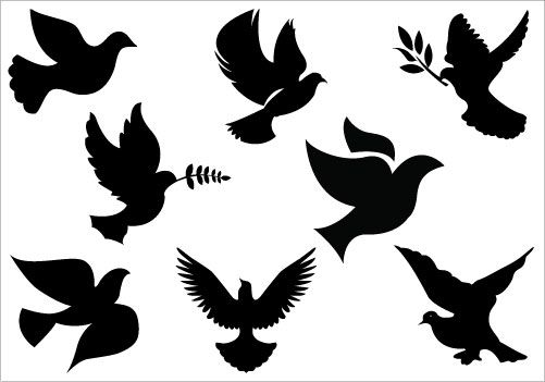 501x351 Dove Clip Art Pack Vector Graphics, Clip Art And Silhouettes