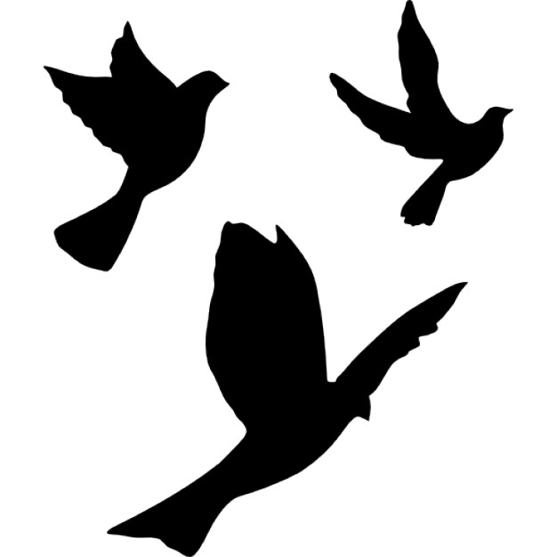 626x626 Flying Doves Group Icons Free Download