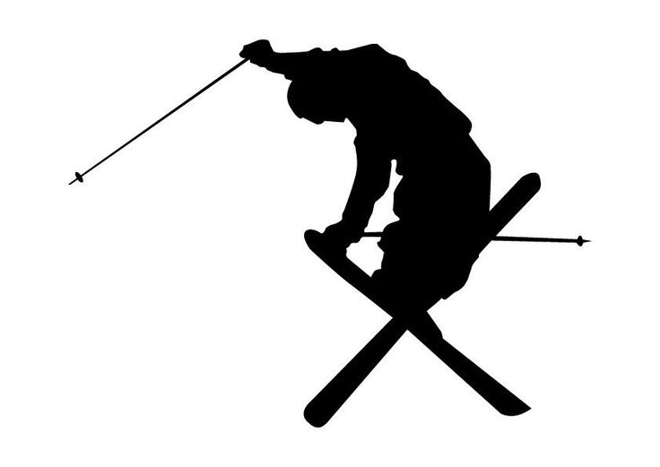 Downhill Skier Silhouette