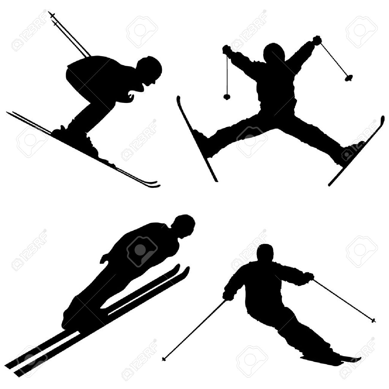 1300x1300 Ski Clipart Mountain Skiing