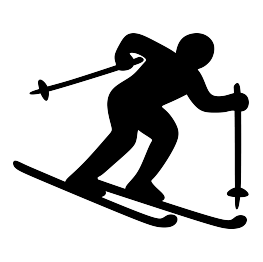 263x262 Skier Silhouette Free Svg Coloriages Et Gabarits