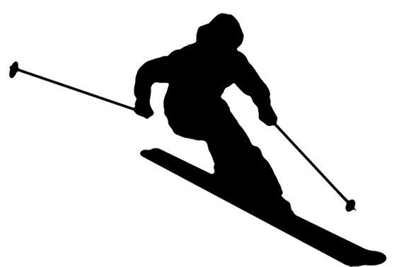 564x377 Skiing Silhouette