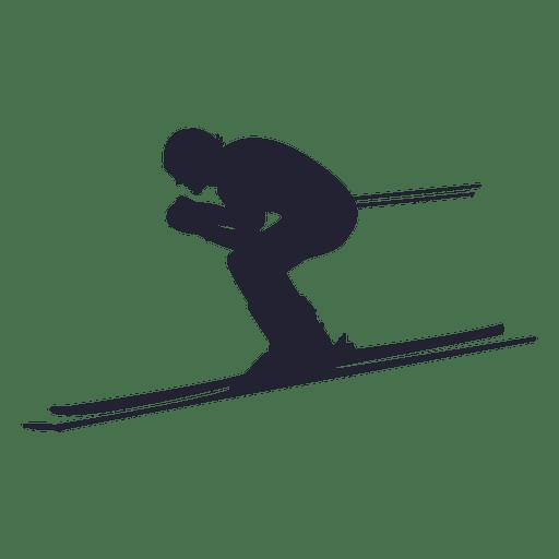 512x512 Downhill Skier Silhouette