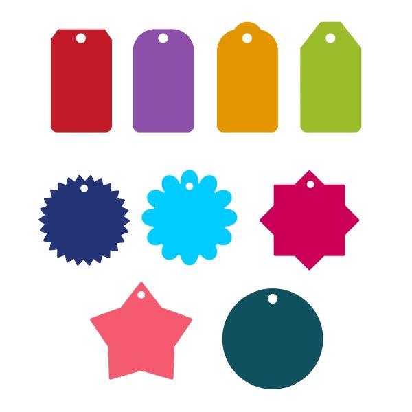 600x600 Tags Pack Cuttable Design Cut File. Vector, Clipart, Digital