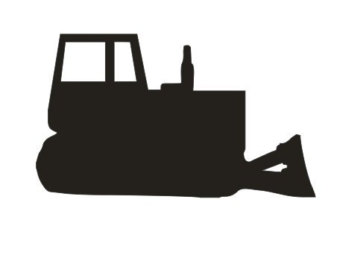 340x270 Dale's Cat Caterpillar Bulldozer Fine Art Print