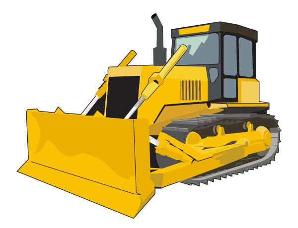 600x460 Free Bulldozer Vector, Vectors