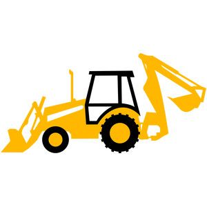 300x300 Backhoe Tractor Silhouette Design, Silhouettes And Cricut