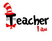 214x170 Dr Seuss Read Across America Teacher I Am Cat In The Hat Svg