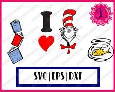 235x188 Svg Png Dxf The Cat In The Hat Dr Seuss Cricut Design Silhouette