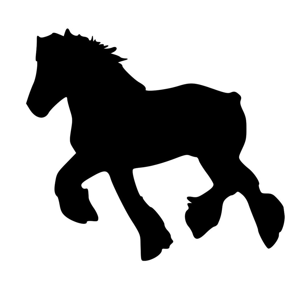 1024x1024 Auto Decal Draft Horse Decal Horse Decal Car Horse Decal Car