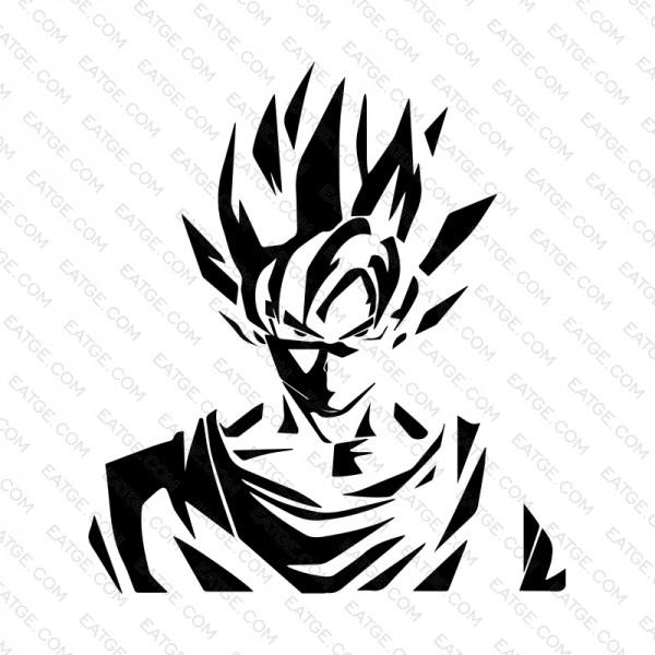600x600 I Am Super Saiyan Son Goku White Canvas