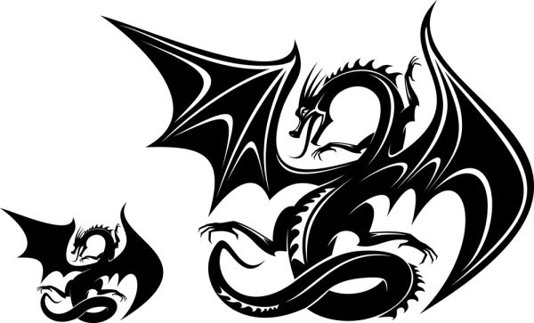 600x363 Dragon Head Silhouette Free Vector In Open Office Drawing Svg