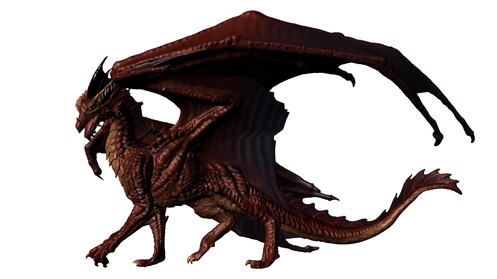 1600x900 Realistic Clipart Dragon