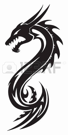 229x450 Silhouette Dragon Tattoos Fresh Royalty Free Silhouette A Simple