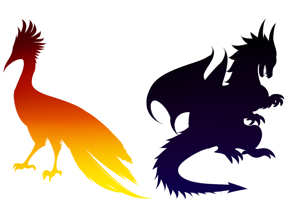 1024x768 Dragon Head Silhouette