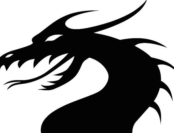 596x456 Dragon, Huge, Silhouette, Outline, Monster, Chinese Dragon
