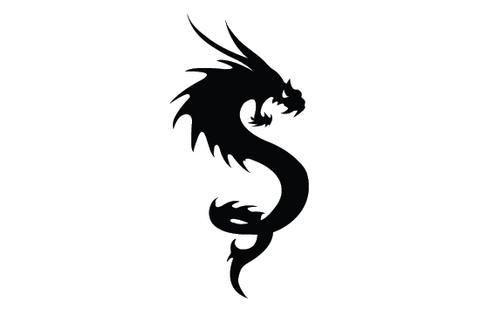 480x309 Dragon silhouette vector – Silhouettes Vector