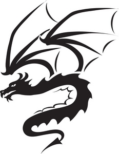 232x300 Flying Dragon Silhouette Clipart Panda