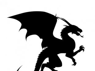 310x233 Free vector about dragon silhouette vector art free vectors UI