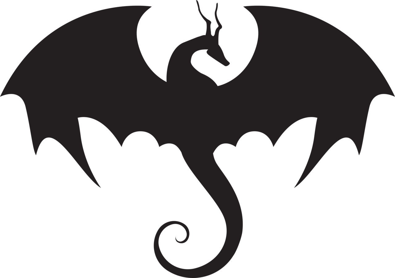 1280x900 Dragon Clipart Silhouette