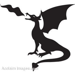 300x300 Img Thing Stencils Dragon Silhouette