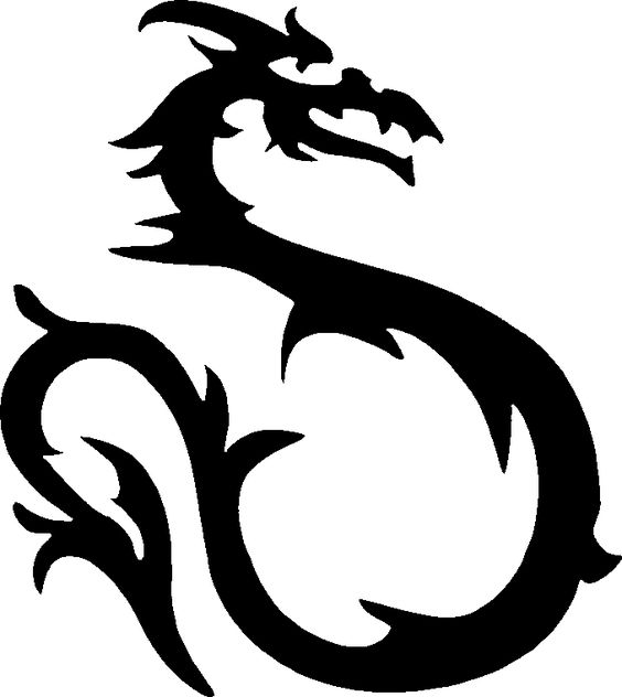 564x632 silhouette dragon
