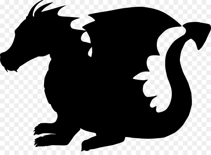 900x660 Dragon Silhouette Child Clip Art