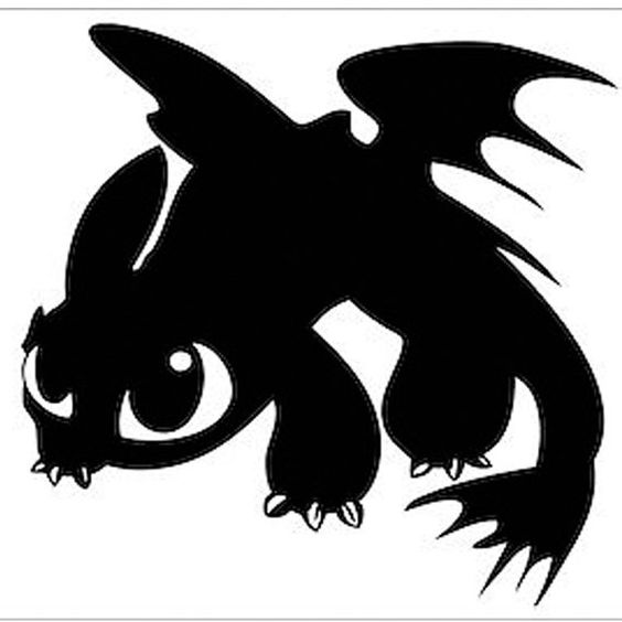 564x564 Dragon Silhouette Clipart