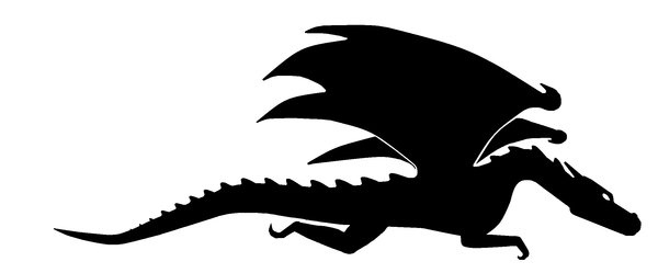 600x249 Dragon Silhouette by invisibledecoy on DeviantArt