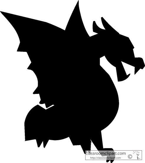 492x550 Dragon Silhouettes Pictures Clipart Panda