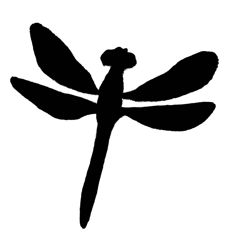 791x815 Dragonfly clipart silhouette
