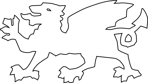 600x337 Welsh Dragon Clip Art Free Vector 4vector