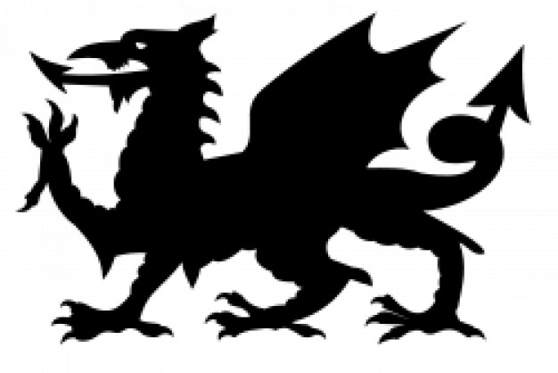 626x418 Black Winged Dragon Silhouette In Side View Download Free Animal