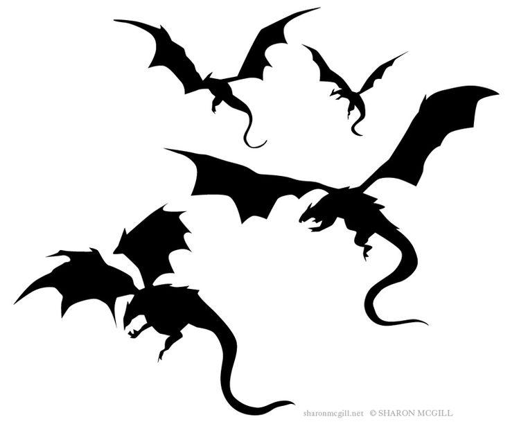 736x612 Dragon Silhouette Clip Art 101 Clip Art
