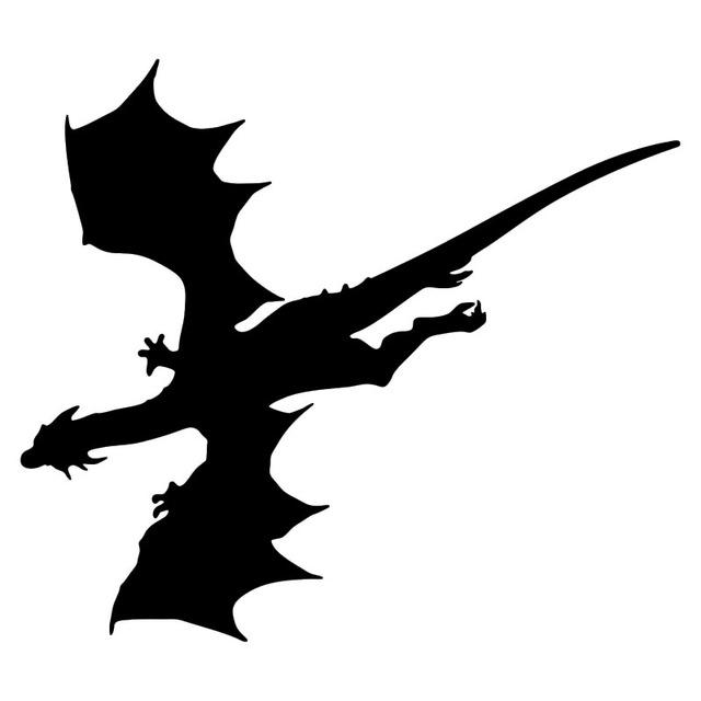 640x640 15.213.3cm Flying Dragon Silhouette Creative Car Stickers Vinyl