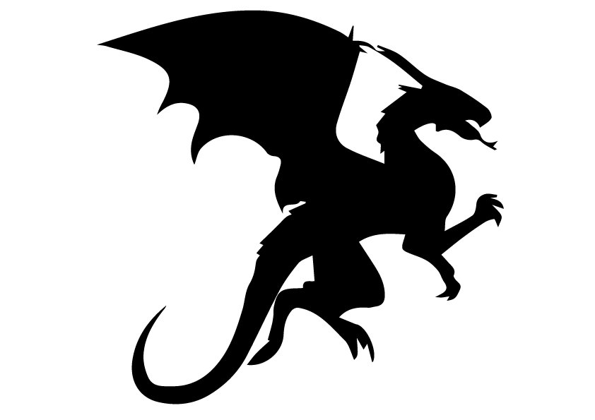 842x595 Svg Dragon Svg Dragon Eps Dragon Silhouette Dragon Files