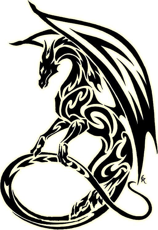 Dragon Silhouette Tattoo