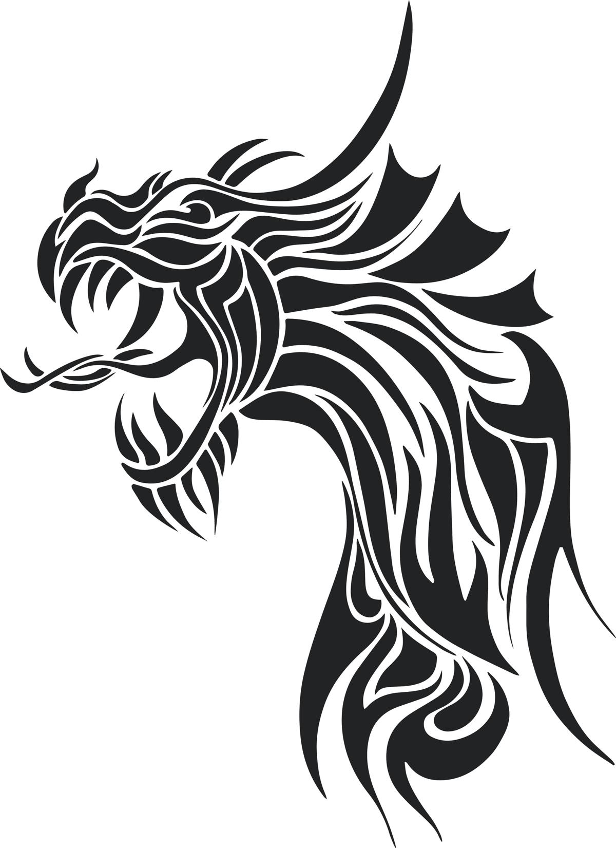 Dragon Silhouette Tattoos